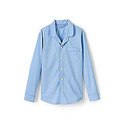 Lands' End - Blue broadcloth pyjama top