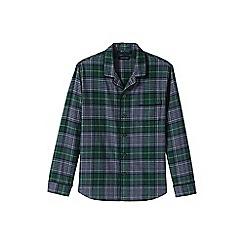 Lands' End - Green flannel pyjama shirt