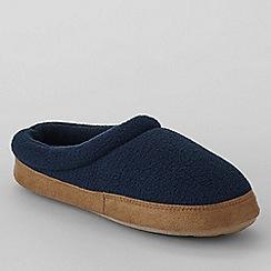 Lands' End - Blue kids' fleece clog slippers