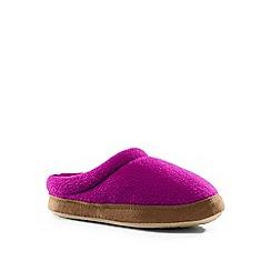 Lands' End - Girls' pink fleece clog slippers