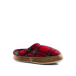 Lands' End - Red kids' fleece clog slippers