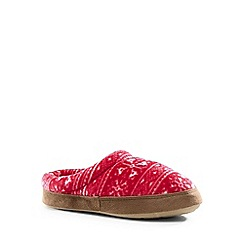 Lands' End - Red kids' fleece clog slippers