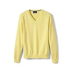 Lands' End - Gold fine gauge V-neck sweater
