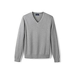 Lands' End - Grey fine gauge v-neck sweater