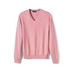 Lands' End - Pink fine gauge V-neck sweater