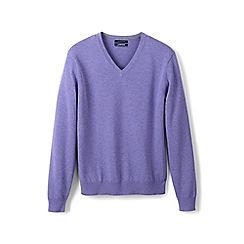 Lands' End - Purple fine gauge V-neck sweater