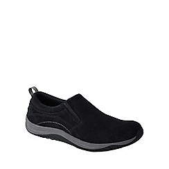 Lands' End - Black women's wide everyday mocs light