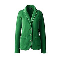 Lands' End - Green petite everyday stretch fleece blazer