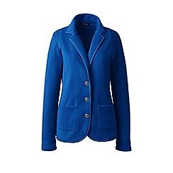 Lands' End - Blue petite everyday stretch fleece blazer