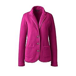 Lands' End - Pink petite everyday stretch fleece blazer