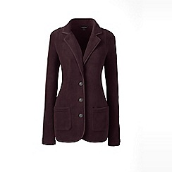 Lands' End - Red tall everyday stretch fleece blazer