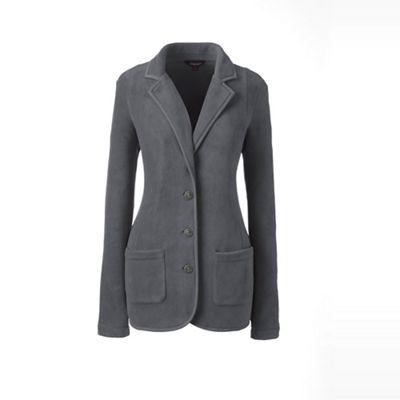 1776b3bd6b9b6 Lands  End Grey plus everyday stretch fleece blazer