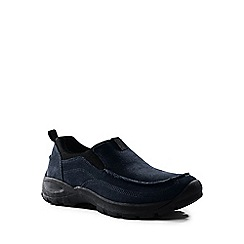 Lands' End - Blue wide everyday moccasins