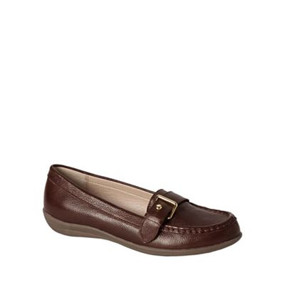Womens Casual Buckle Loafers - 4.5 - BROWN Lands End Real Cheap Many Kinds Of bZd6xH
