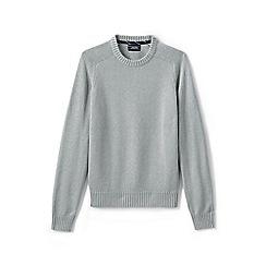 Lands' End - Grey drifter cotton sweater