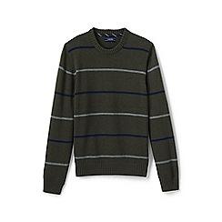 Lands' End - Green striped drifter cotton sweater