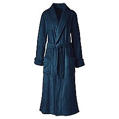 Lands  End - Blue plush fleece dressing gown de6d3bd9a