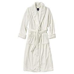 Lands' End - Cream plush fleece dressing gown