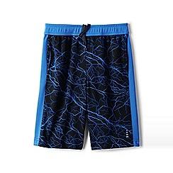 Lands' End - Boys' Black patterned active shorts