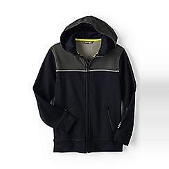 Lands' End - Boys' Black active zip-front hoodie