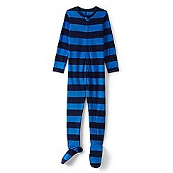 Lands' End - Boys' blue fleece onesie