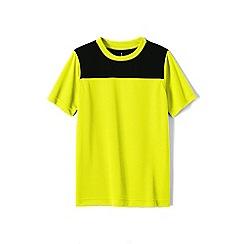 Lands' End - Yellow boys' short sleeve colourblock active tee