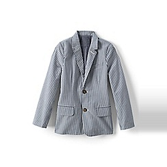 Lands' End - Boys' blue seersucker blazer