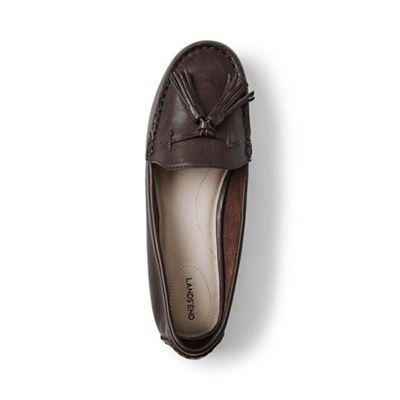Lands' End - Brown regular adie tassel loafers