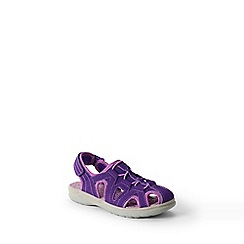 Lands' End - Purple kids' closed-toe action sandals