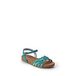Lands' End - Blue girls' plaited sandals