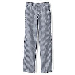Lands' End - Boys' blue tailored seersucker trousers
