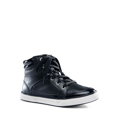 Lands' End - Black high top trainers