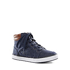 Lands' End - Blue high top trainers