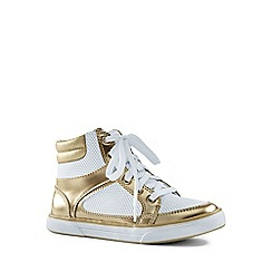 Lands' End - White high top trainers