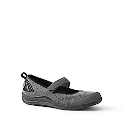 Lands' End - Grey wide casual mary jane shoes