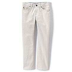 Lands' End - Cream boys' slim fit jeans