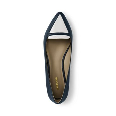 Lands' End - Blue contrast pointed-toe loafers