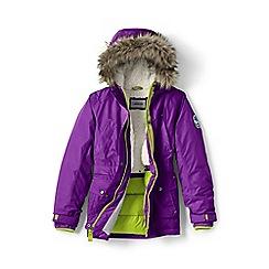 Lands' End - Girls' purple expedition parka