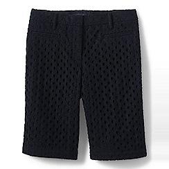 Lands' End - Black regular eyelet shorts