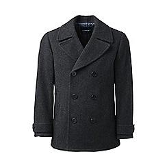 Lands' End - Grey  regular wool pea coat
