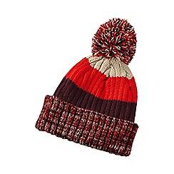 Lands' End - Boys' orange stripe rib knit hat