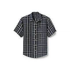 Lands' End - Multi regular patterned short sleeve linen shirt