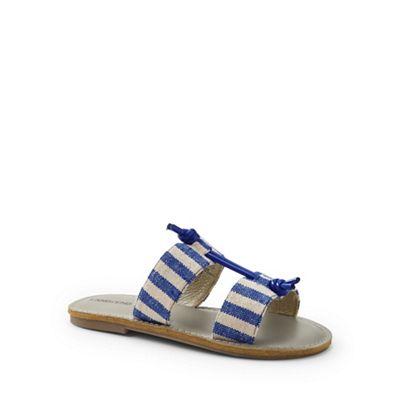 Lands' End - Girls' blue knotted sandals
