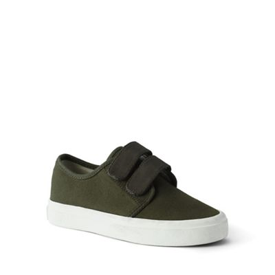 Lands' End - Green double-strap canvas trainers