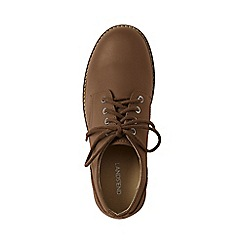 Lands' End - Brown leather oxford shoes