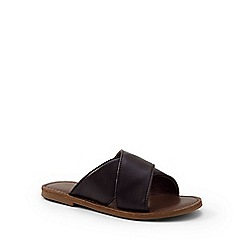 Lands' End - Brown cross band slip-on sandals
