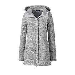 Lands' End - Grey sweater fleece hooded parka