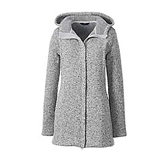 Lands' End - Grey sweater fleece hooded parka