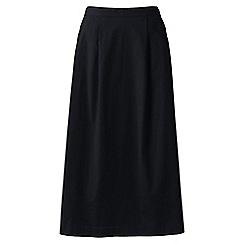 Lands' End - Black petite stretch poplin midi skirt
