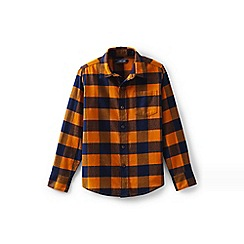 Lands' End - Orange toddler boys' long sleeve flannel shirt